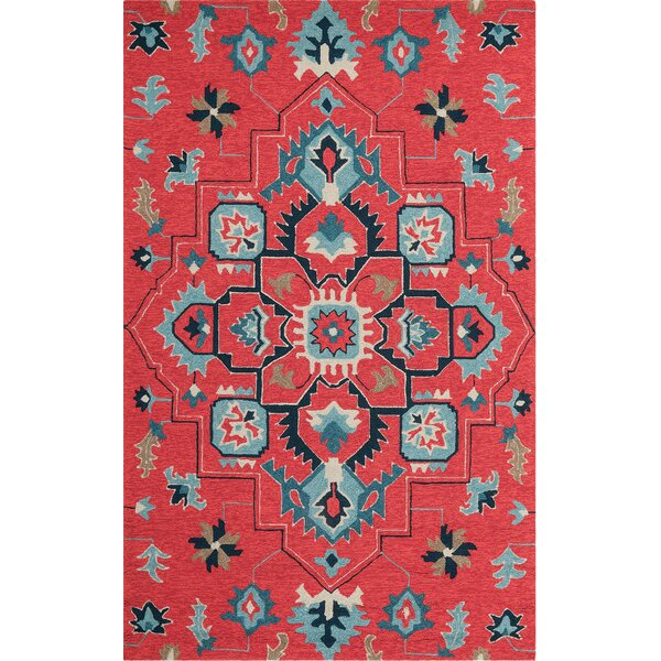 Jackson Hand Hooked Red Rug