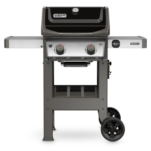 Spirit II E-210 2-Burner Propane Gas Grill with Side Shelves by Weber