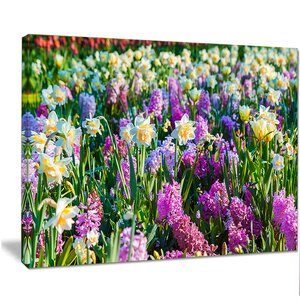 'Spring Flowers in Keukenhof Park' Photographic Print on Wrapped Canvas by Design Art