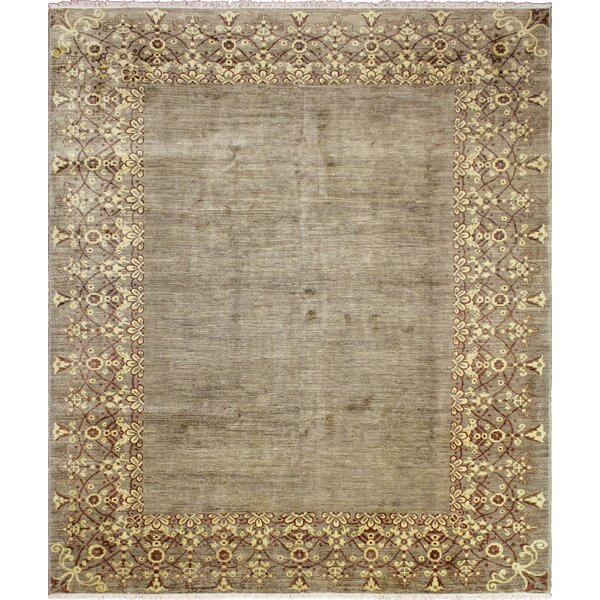 One-of-a-Kind Romona Hand Knotted Wool Green Area Rug by Isabelline