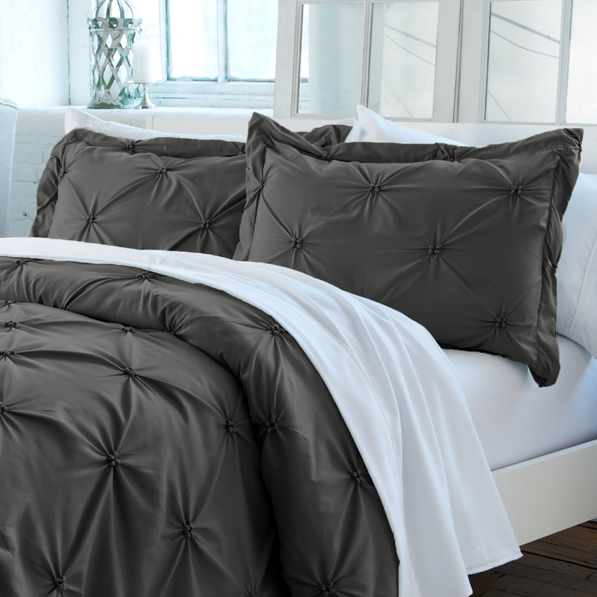Nordic North 3 Piece Cotton Turkish Flannel Twin Size Sheet Set Luxe Moose White on a Navy Blue Background