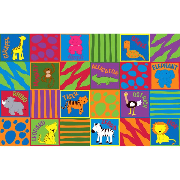 Animal Squares Area Rug by Kid Carpet