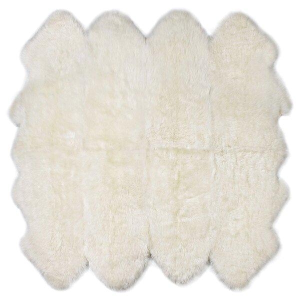 Eight Pelt Ivory Area Rug by Fibre by Auskin