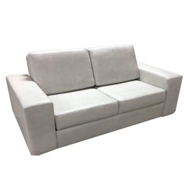 Outdoor Furniture Kimberwood Genuine Leather Square Arm Sleeper
