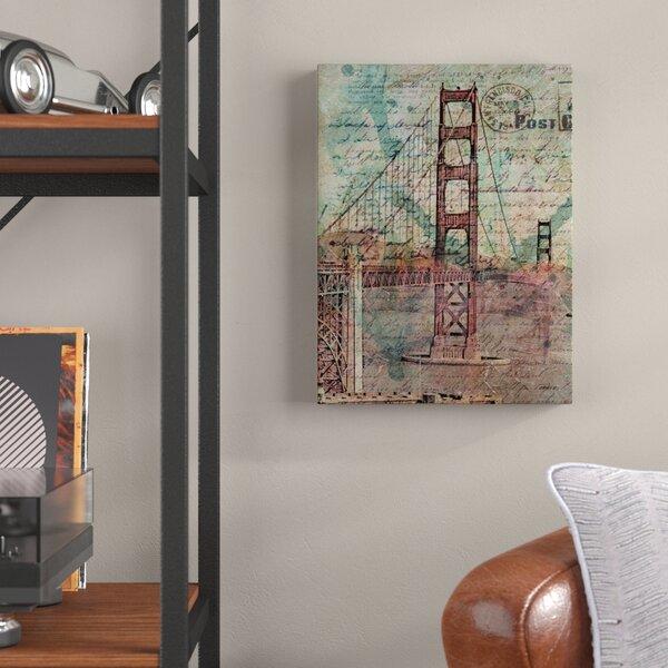 San Francisco Bridge Graphic Art on Canvas by Trent Austin Design
