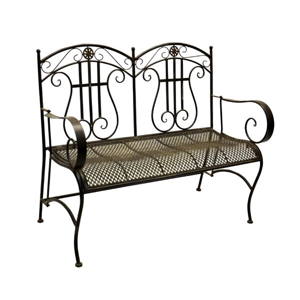 Allison Iron Park Bench by Fleur De Lis Living