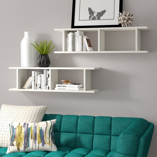 Amara Modern Wall Shelf (Set of 2) by Brayden Studio