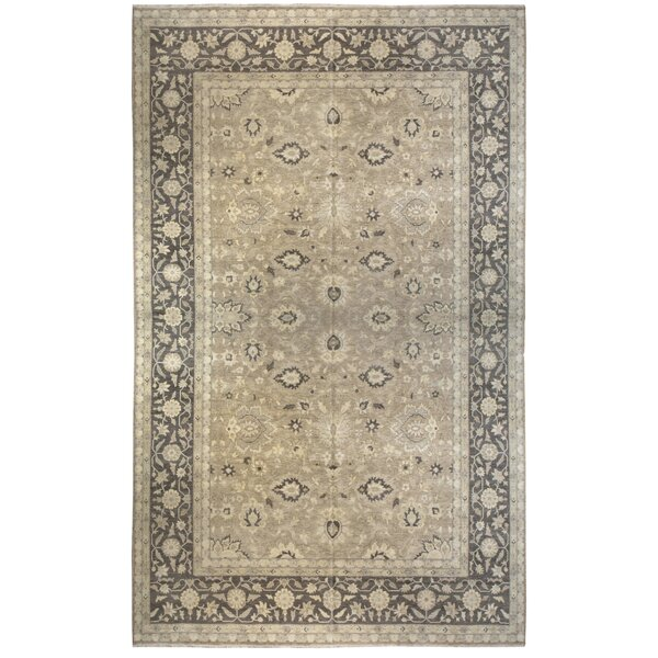 One-of-a-Kind Hand-Knotted Gray 13' x 20' Wool Area Rug