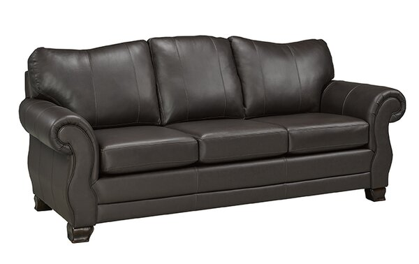 Perfect Cost Jettie Italian Genuine Leather Sofa by Fleur De Lis Living by Fleur De Lis Living
