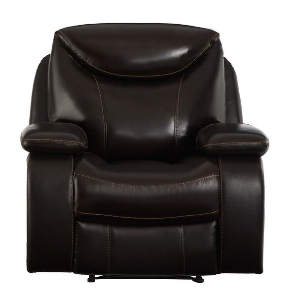 Colin Upholstered Leather Manual Recliner [Red Barrel Studio]