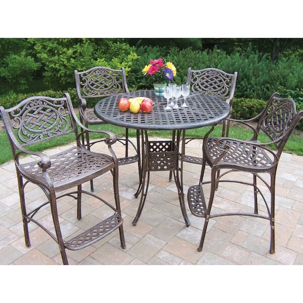 Zofia 5 Piece Bar Height Dining Set by Charlton Home