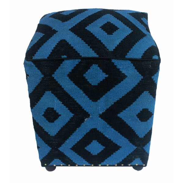 Renfroe Kilim Cube Ottoman by World Menagerie