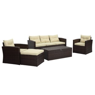 5 Piece Conversation Set with Cushions By Best Desu, Inc.