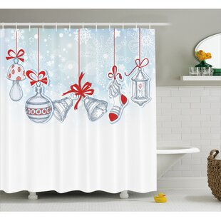 Christmas Retro Decorations Shower Curtain