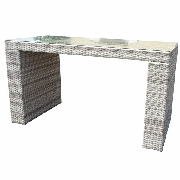 Ansonia Rectangle Bar Table by Rosecliff Heights