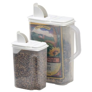 Bird Seed 2 Container Food Storage Set Pet \u0026 Dispensers You\u0027ll Love