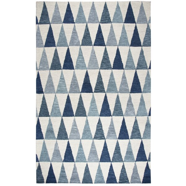 Malcolm Hand-Tufted Wool Gray/Blue Area Rug by Cor