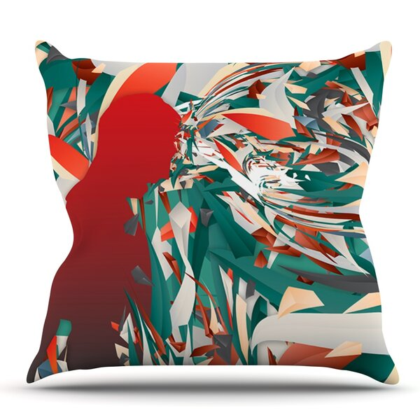 Soccer Headshot by Danny Ivan Outdoor Throw Pillow by East Urban Home
