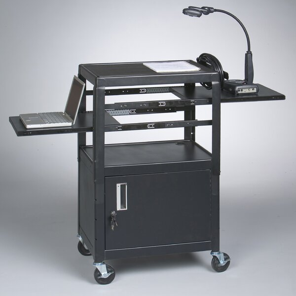 Dual Adjustable AV Cart by Balt