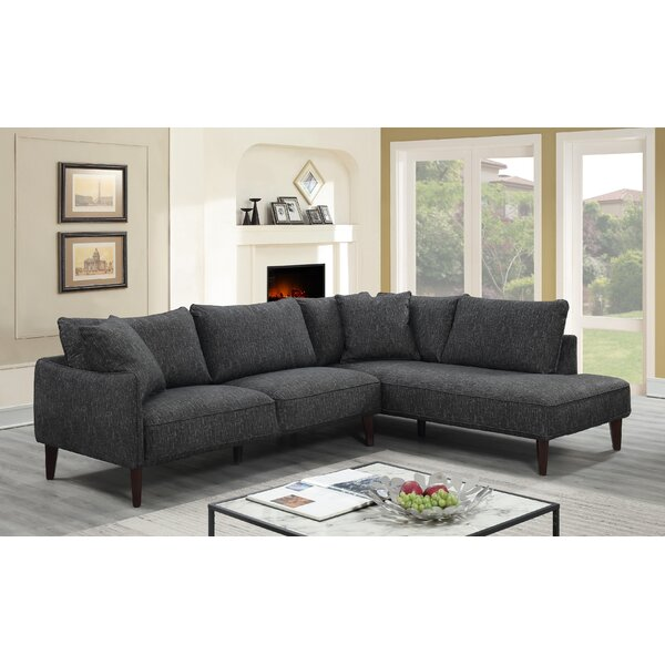 Janine Right Hand Facing Sectional by Modern Rustic Interiors