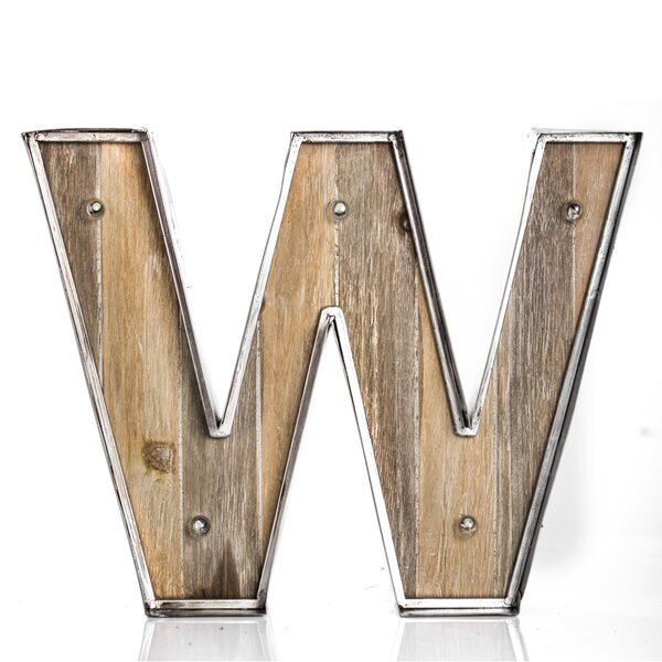Letter W Wood/Metal LED Marquee Sign by Williston Forge