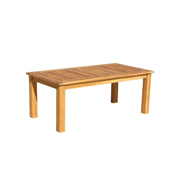 Chancy Courtyard Teak Coffee Table by Rosecliff Heights