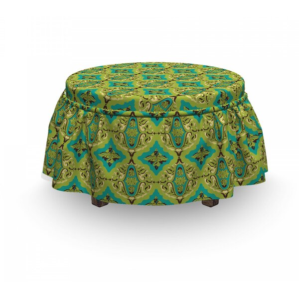 Classical Motifs Ottoman Slipcover (Set Of 2) By East Urban Home