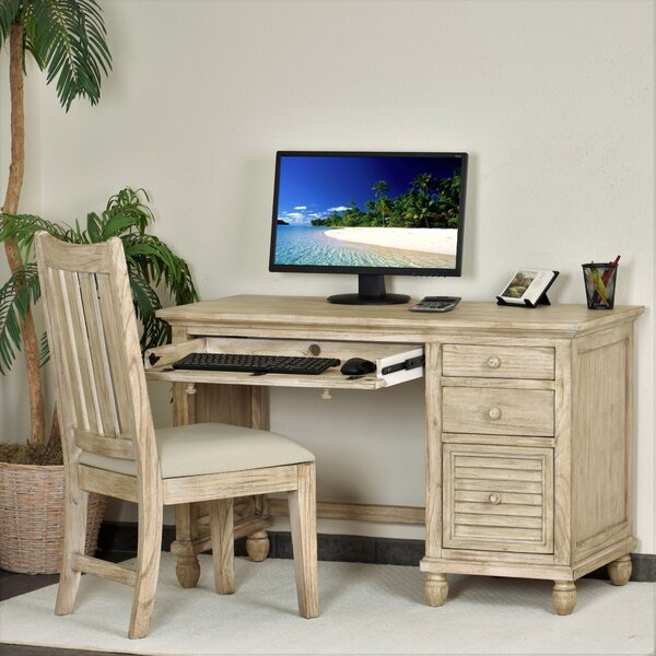 Haylee Glass Desk and Chair Set