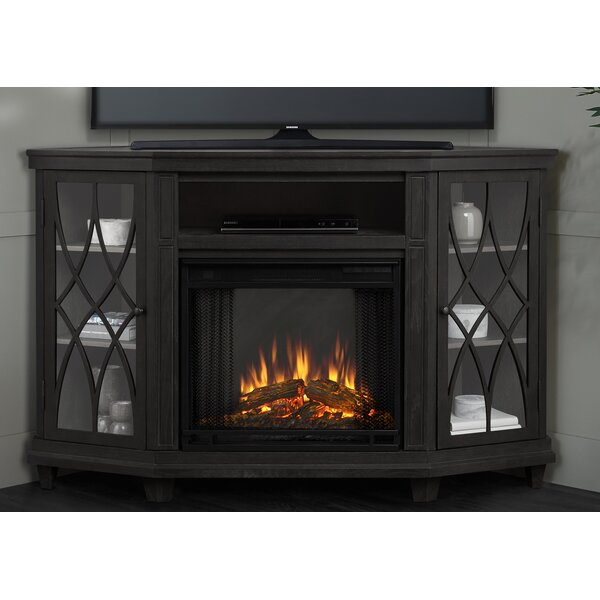 Lynette 56 TV Stand Fireplace by Real Flame