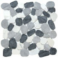 Cultura Pebbles 12 x 12 Marble Tile in Spring by Emser Tile
