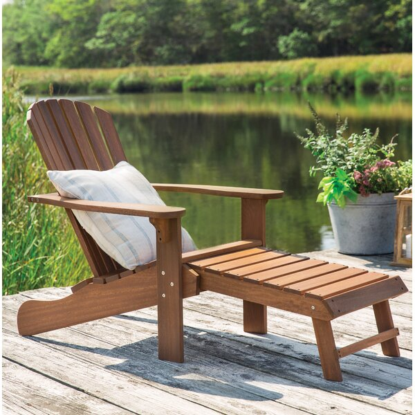 Solid Wood Adirondack Chair with Ottoman by Birch