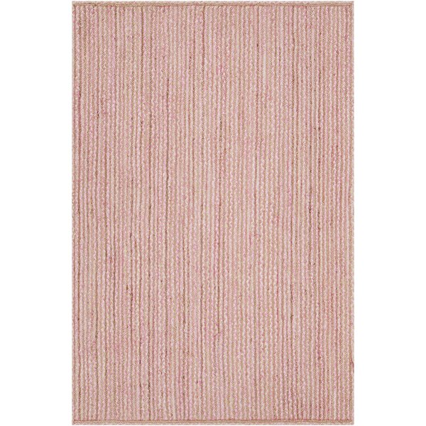 Yother Textured Contemporary Pink Area Rug by Brayden Studio