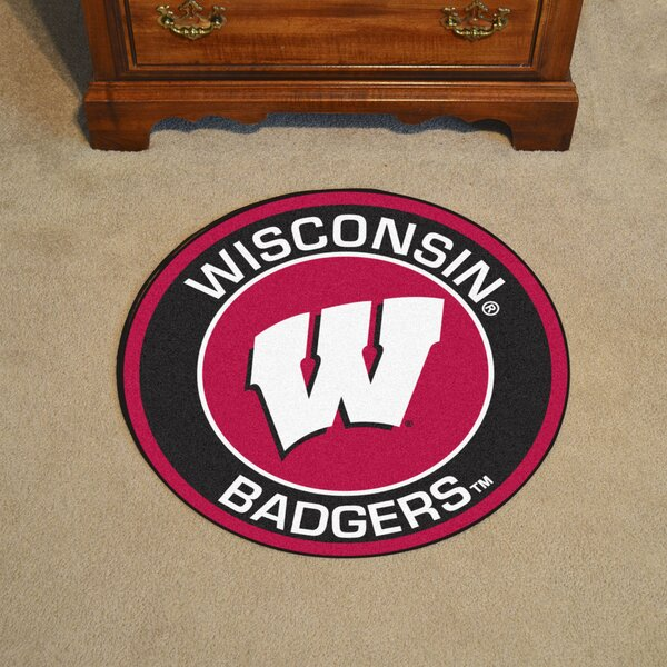 NCAA University of Wisconsin Roundel Mat by FANMATS