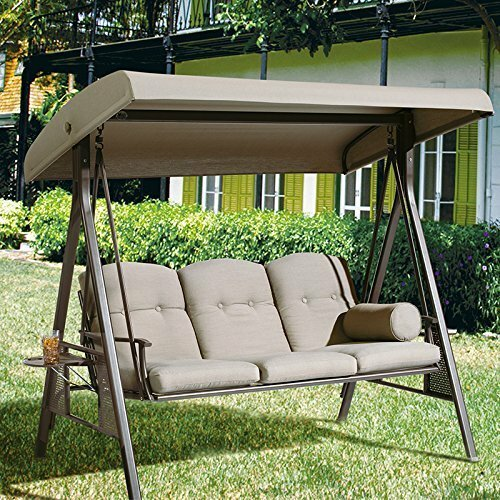 Rohrbaugh 3 Seat Outdoor Porch Swing with Stand by Red Barrel Studio