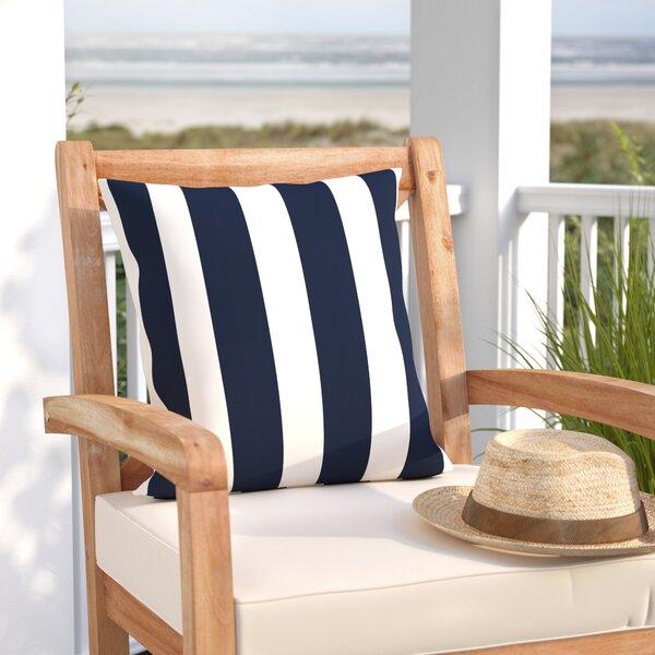 Outdoor Pillow Stripe Indoor/Outdoor Throw Pillow by Beachcrest Home