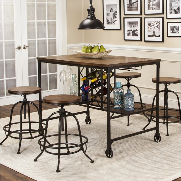 Jaoquim 5 Piece Pub Table Set by 17 Stories