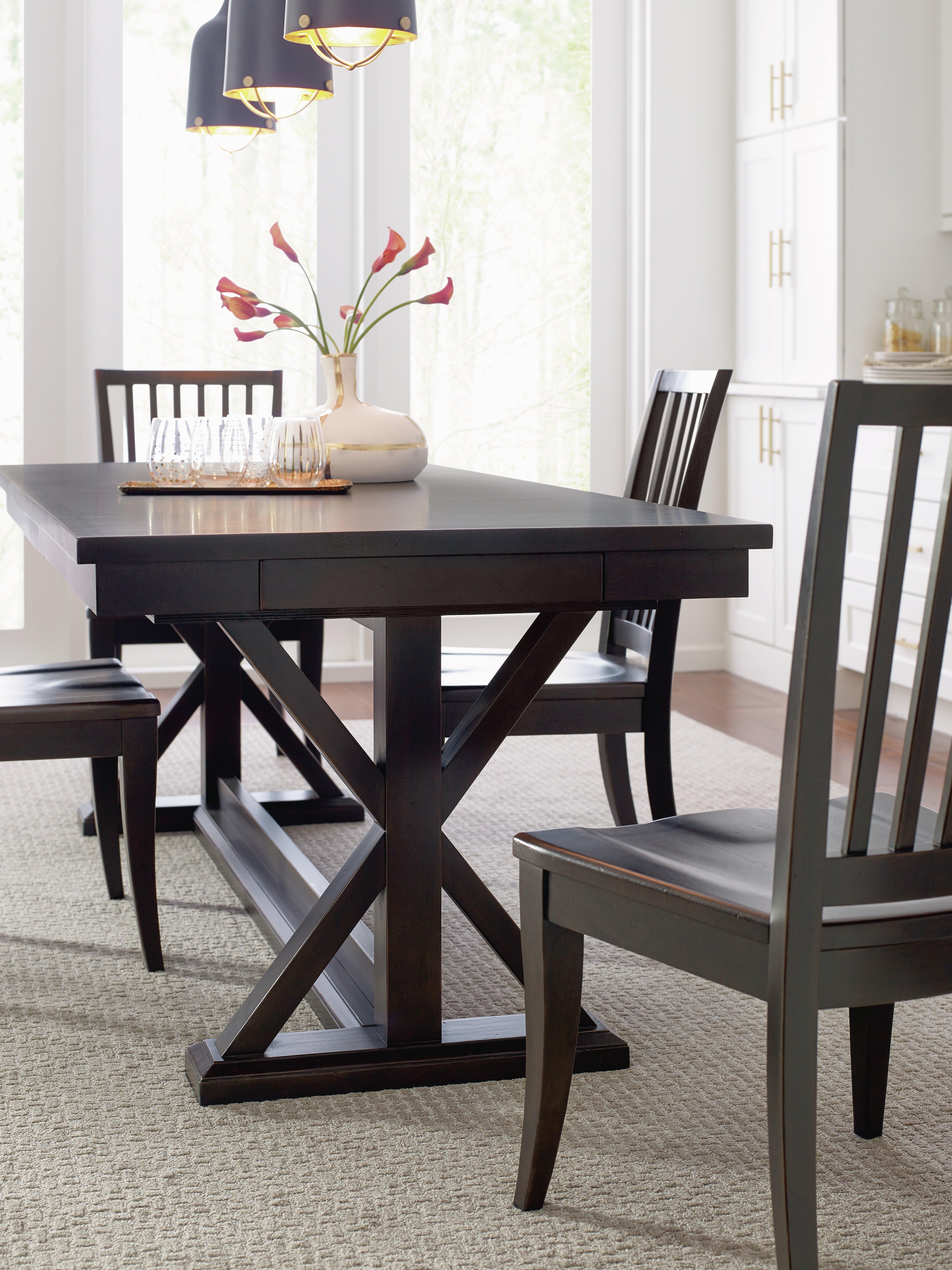 rachael ray home trestle dining table set | wayfair