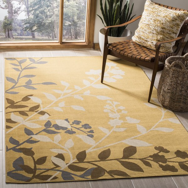 Hampton Camel Plants Indoor/Outdoor Area Rug by Safavieh