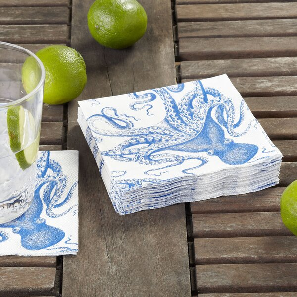Octopus Cocktail Napkin (Set of 36) by Birch Lane™