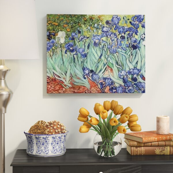 Irises By Vincent Van Gogh Oil Painting Print On Wrapped Canvas By Red Barrel Studio.
