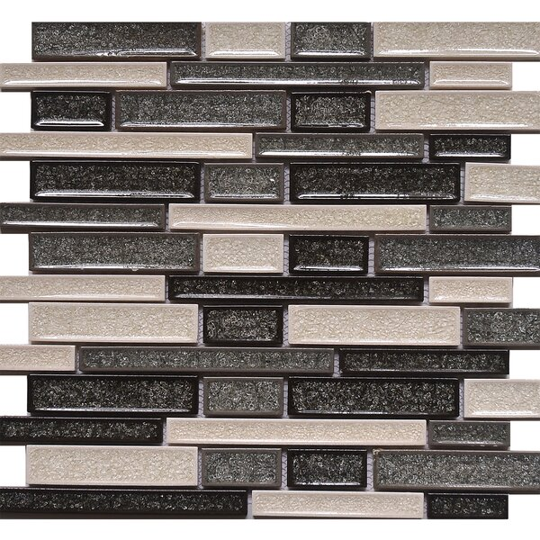 Elements Crackled Random Sized Glass Mosaic Tile in Zinc by Matrix Stone USA