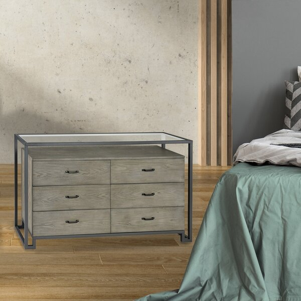 Kaira 6 Drawer Double Dresser by Foundry Select