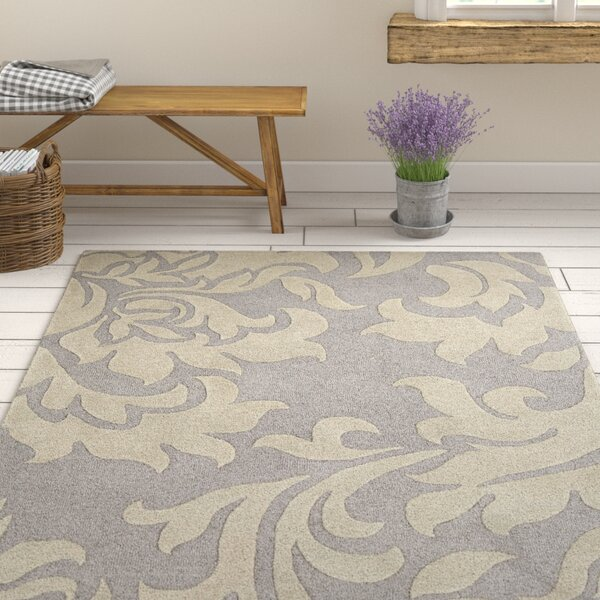 Kiesel Hand-Tufted Silver/Gray Area Rug by Ophelia & Co.