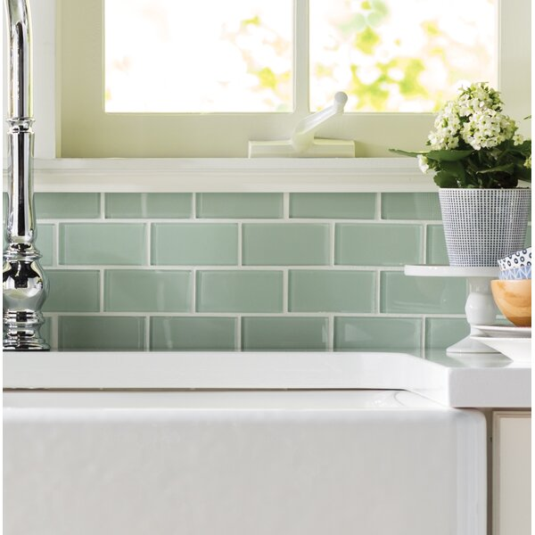 Crystallized 2'' x 4'' Glass Mosaic Tile in Arctic Ice White by MSI