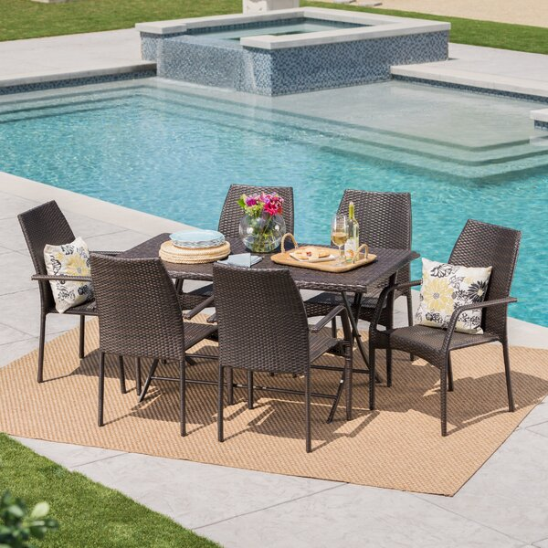 Jazzi 7 Piece Dining Set By Orren Ellis