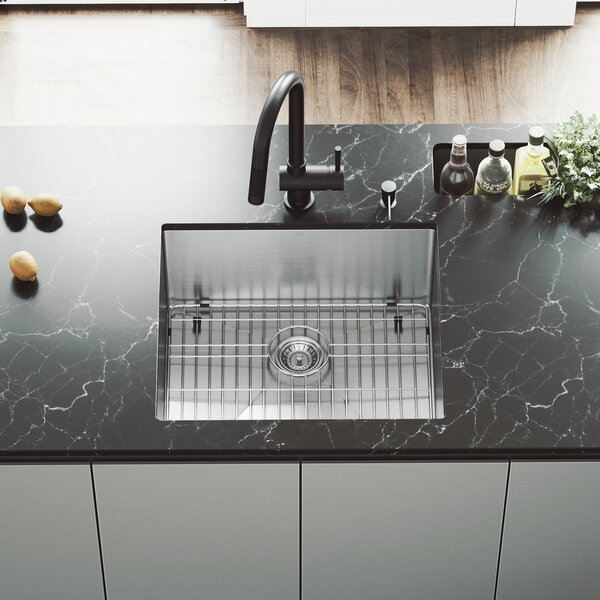 23 L x 20 W Undermount Single Bowl Kitchen Sink with Faucet by VIGO