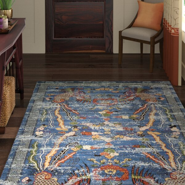 Chosposi Blue Area Rug by World Menagerie