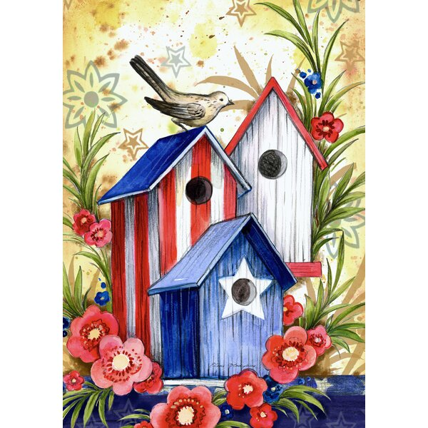 Birdhouse Trio Garden flag by Toland Home Garden