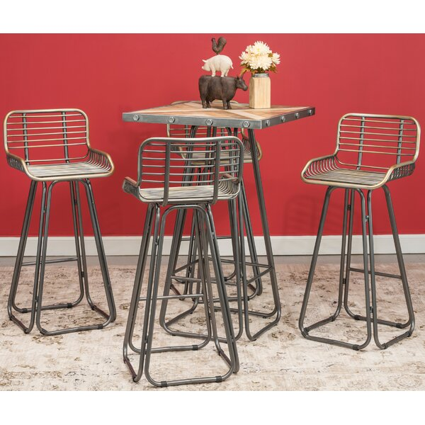 Badino 5 Piece Dining Set by Hazelwood Home