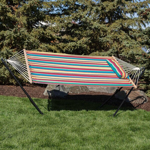 Sisler Cotton Fabric Hammock with Stand by Bay Isle Home